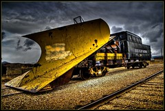 Plow Train - H D R (Erix Images) Tags: snow car clouds train utah nikon december rails plow midway 1001nights 2008 hdr snowplow d60  hebervalleyrailroad mclaren237 eriximages