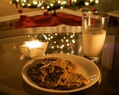 Cookies for Santa (Daniel Greene) Tags: christmas longexposure winter food holiday home glass night reflections bokeh tripod indoor timeexposure rc1