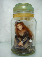 SE#10 ~ Captured Fairy (Nenfar Blanco) Tags: art doll oneofakind ooak captured polymerclay fairy sculptures faerie hada nenufarblanco
