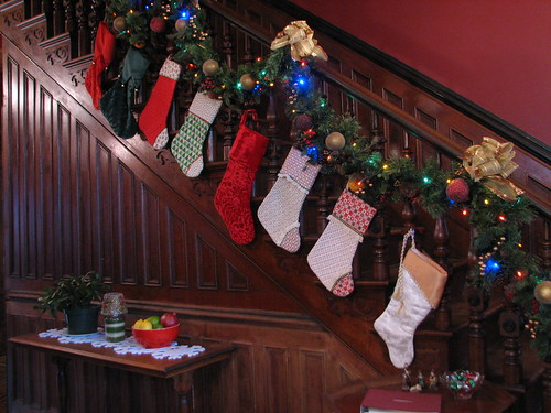 stockings on the staircase