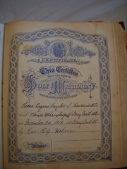 Family Bible Marriage Certificate