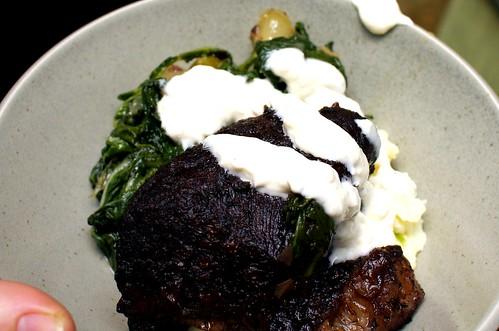 short rib + horseradish cream