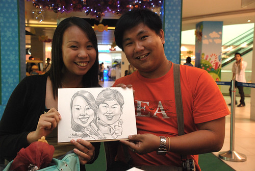 Caricature live sketching for Marina Square 6