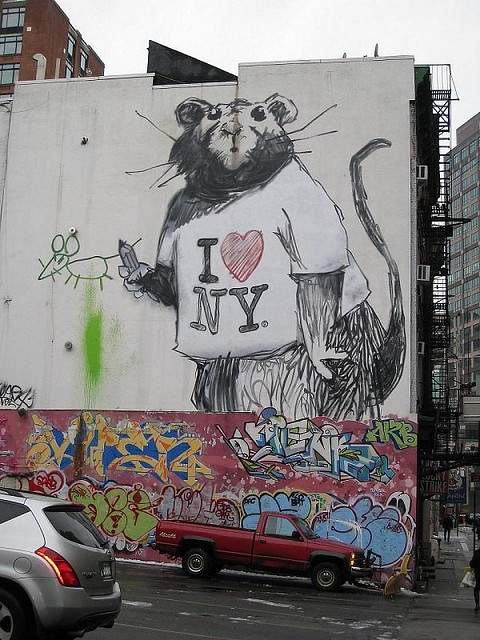 ... commentary have been featured on streets, walls, and bridges of cities  throughout the world. In this post we'll show you his style of graffiti art.