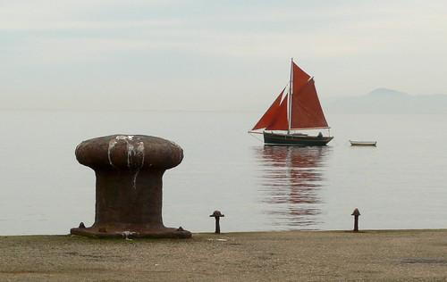 Sailing at Portencross 25Dec08