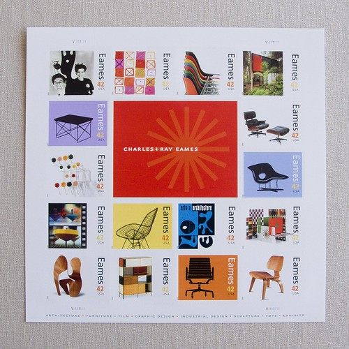 Charles + Ray Eames Stamps Front