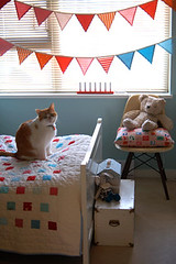 adelaide's room (lovelydesign) Tags: cat quilt garland kidsroom bunting