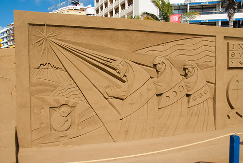 Belén de arena en Las Canteras