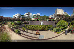 Getty Center Central Garden, Los Angeles (#262) (Christopher Chan) Tags: california travel panorama museum architecture canon garden losangeles unitedstates northamerica gettycenter 1022mm hdr 30d robertirwin paulgetty snaptweet