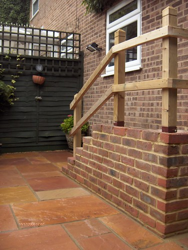 Indian Sandstone Patio and Lawn Image 31