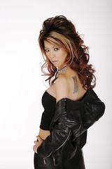 black~n~back (Liz Lieu) Tags: liz tattoo studio leatherjacket lieu lizlieu pokerdiva propokerplayer