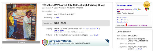 NY/NJ Listd WPA Artist Otto Rothenburgh Painting #1 yqz Sold on eBay by Million Dollar Power Seller Norb Novocin User Name estateauctionsinc by gettingsoldonebay