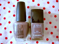 find the differences (fruvalentina) Tags: lush nailpolish chanel opi particulier overthetaupe furoshikirosso overthetaupevsparticulier