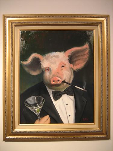"""""""Elitist Pig"""" by Ross Neher"""