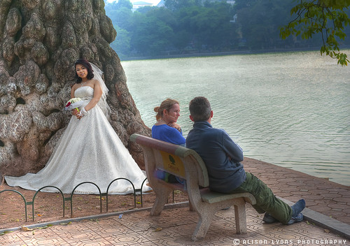 """I thought you said this was a romantic spot, I'm putting my shoes back on."" by alison lyons photography"