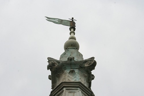 Close up of the top of the spire
