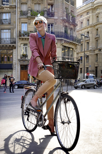 Chic Parisienne on Bike II