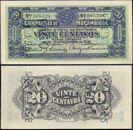 20 Centavos Mozambik 1933, Pick R2
