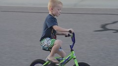 Fischer's First Sping on His New Bike