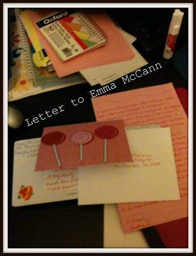 Letter sent to Emma McCann
