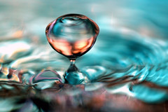 Falling drop (!.Keesssss.!) Tags: blue motion reflection water netherlands horizontal outdoors photography day nopeople drop falling impact rippled gettyimages purity selectivefocus royaltyfree theflickrcollection keessmans 0055ksgetty