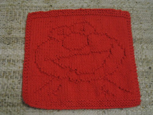 Furry Red Monster - Wash Cloth