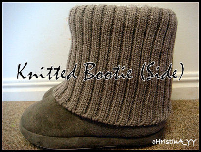 Grey Knitted Bootie - Side