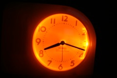Alarm Clock Glows in the Dark