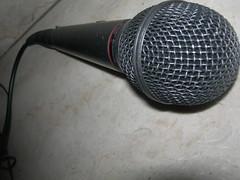 The Microphone (Sparafleshato) Tags: music black macro strange song sing micro musica microphone nero microfono cantante strana canzone presentatore