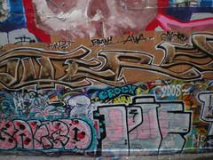 4/5/08 Free Wall (sixheadedgoblin) Tags: pie skull spray roller publicart bean1 olympiawashington awa booyah crock freewallwide2 synco sakrd fmdt