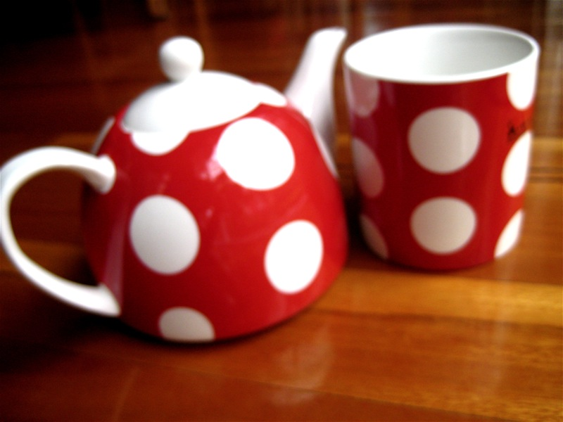 Red Spot Tea pot and mug