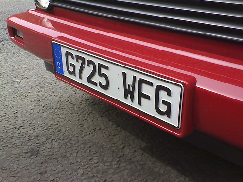Fake German Plate