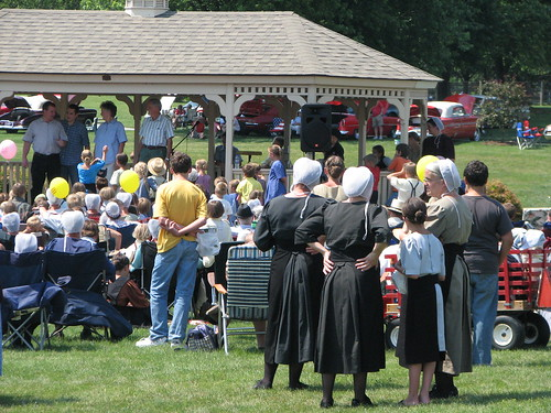 Amish and non-Amish brought together