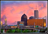 Evening Sky in Columbus (fensterbme) Tags: wedding sunset interestingness columbusohio 5d 70200mm downtowncolumbus thevenue interestingness13 fensterbme columbusskyline canon70200mmf28l canon70200mm i500 canon70200mmf28lis fenstermacherphotography babbstrahmwedding explore22jun08