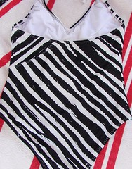 Back of Striped Bathing Suit