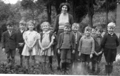 A Happy group - Sister and her family group (theirhistory) Tags: boy girl children boots coat jumper wellingtonboots wellies rubberboots wellingtons nationalchildrenshome