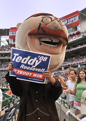 Teddy Roosevelt, Washington Nationals Presidents Race Loser (Scott Ableman) Tags: fv5 dcist teddyroosevelt d300 washingtonnationals presidentsrace letteddywin nationalspark