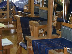 Hirose Kasuri (tiny.cc/SWphotos.com) Tags: blue handmade indigo fabric shimane cloth dye aizome weaving looms yasugi kasuri