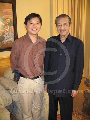Interviewing Mahathir