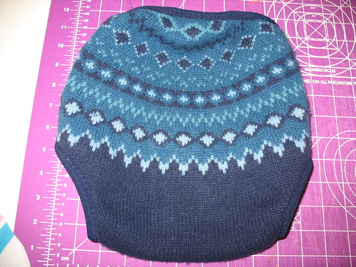 new wool cover, back