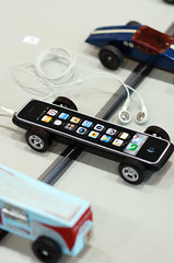 Pinewood Derby - iphone car (cdubya1971) Tags: wood columbus ohio apple car race design boyscouts gravity 2008 derby pinewood bsa pinewoodderby iphone ccad csca pinewoodderbydesign