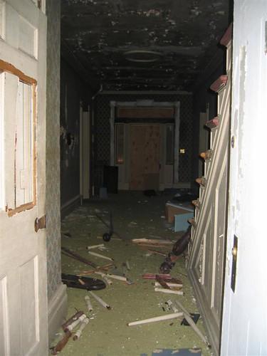 Vandalism debris inside