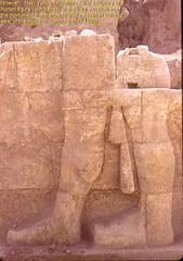 Nineveh. Nebi Yunus excavation.  Polylithic human figure. (StevanB) Tags: sculpture archaeology ancient iraq nineveh lamassu nabi assyria excavation yunus nebi stevanb