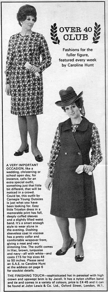 Woman's Weekly 1971 Over 40 Fashion