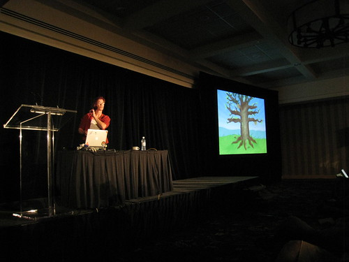 Mitchell doing her keynote