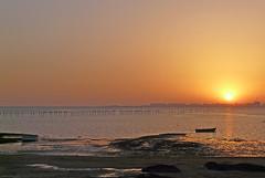 """Puesta de sol en """"la Casería"""" (Portiman!) Tags: sunset sea españa orange sun sol lumix boat mar spain barca cadiz sanfernando puesta naranja anochecer casería fz18 grouptripod goldenvisions"""