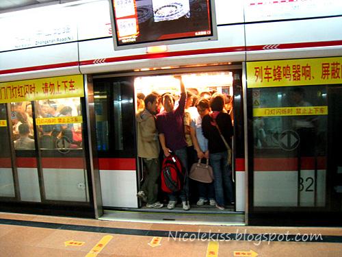 passenger in shanghai metro