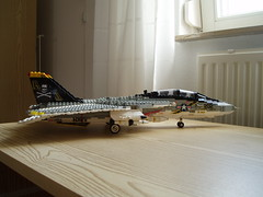 F-14A Tomcat (2) (Mad physicist) Tags: model fighter lego f14 aircraft usnavy jollyroger tomcat grumman f14a