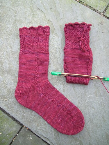Traveler's Stocking and a half (by aswim in knits)
