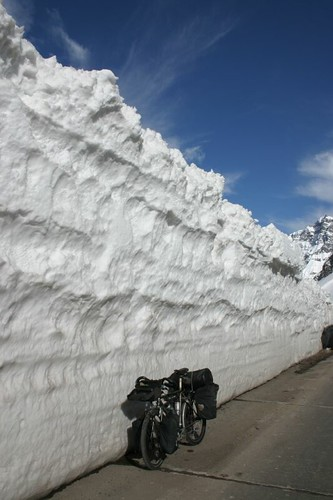 Deep snow near the border!